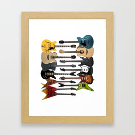 Lots Of Acoustic Bass Electric Guitars Rock Player Framed Art Print