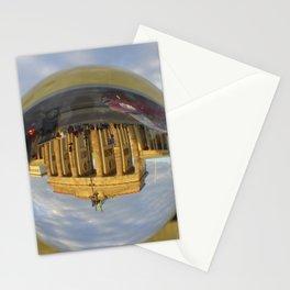BERLIN Brandenburg Gate sunset, Germany / Glass Ball Photography Stationery Cards