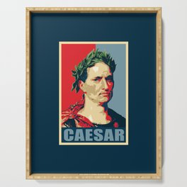 Caesar Political Propaganda Pop Art Serving Tray
