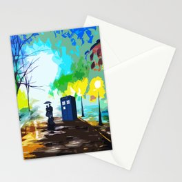 Tardis Art Love Story Stationery Cards