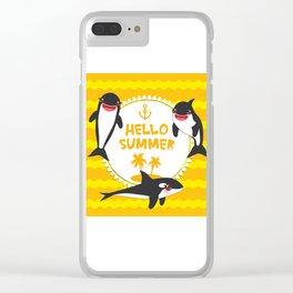Hello Summer, Kawaii orca Clear iPhone Case