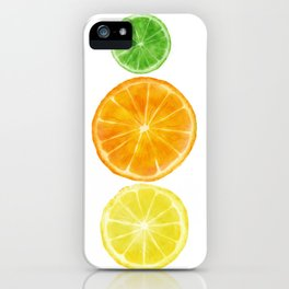 Squeeze the day! Citrus art featuring oranges, lemons, and limes iPhone Case