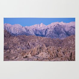 Mount Whitney /view from Movie Flats, Lone Pine, CA. Rug