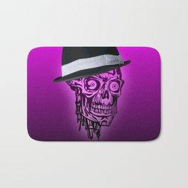 Elegant Skull with hat,hot pink Bath Mat