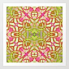 Ethnic Tribal Pattern G328 Art Print