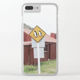 Penguins Crossing Clear iPhone Case