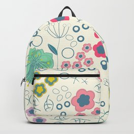 Abstract Summer Flowers Backpack