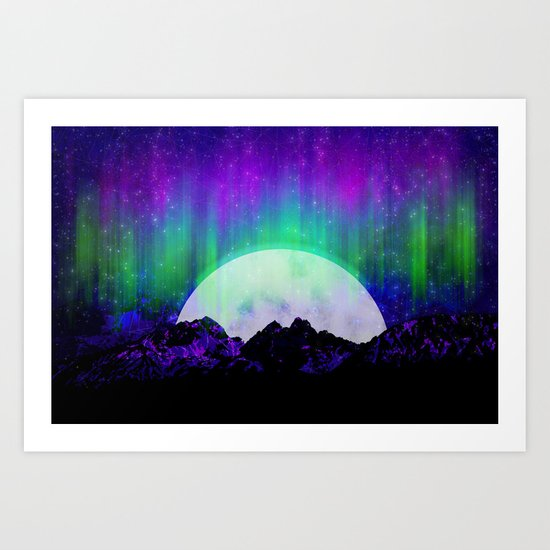 Under the Northern Lights Art Print