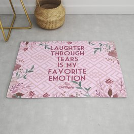 Steel Magnolias Laughter Through Tears Truvy Quote Rug
