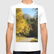 Down this road Mens Fitted Tee White MEDIUM