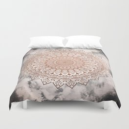 ROSE NIGHT MANDALA Duvet Cover