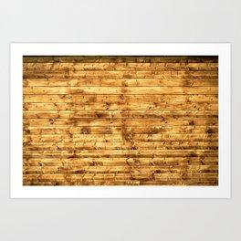 Grunge Rustic Wood pattern Art Print