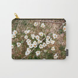 White spring flowers Carry-All Pouch