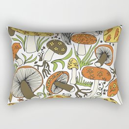 Hand-drawn Mushrooms Rectangular Pillow