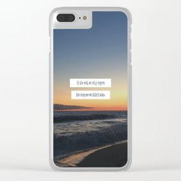 Taking Chances Clear iPhone Case