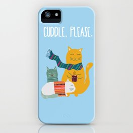 Cat cuddle -Hand Draw iPhone Case