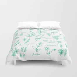 Aromatic herbs Duvet Cover