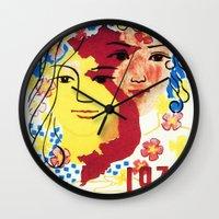 1975 Wall Clocks featuring Vietnam propaganda poster - 1975 Spring of Reunion by Vietnam Propaganda artworks