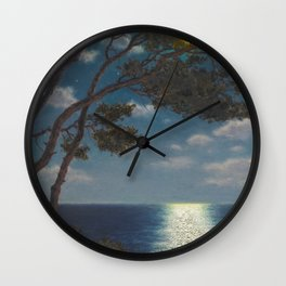 Classical Masterpiece 'Moonlight on the Water' by Ivan Fedorovich Choultsé Wall Clock