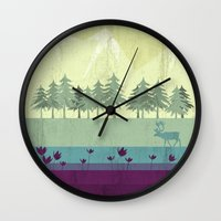 wildlife Wall Clocks featuring Wildlife by Kakel