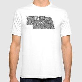 Typographic Nebraska T-shirt