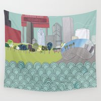chicago Wall Tapestries featuring Chicago by Hollie McManus