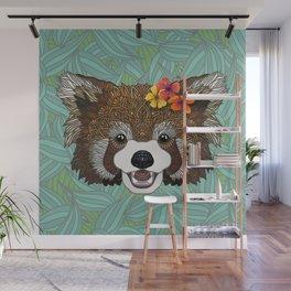 Tropical Red Panda Wall Mural
