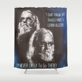 Sir Billy Connolly on Algebra by Surface Noise Shower Curtain