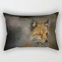 Abstract fox portrait Rectangular Pillow