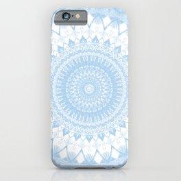 Baby Blue Boho Mandala iPhone Case