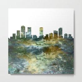 Denver Colorado Skyline Metal Print