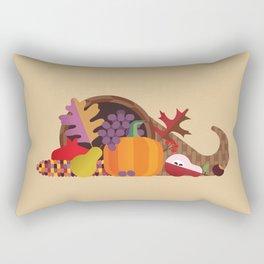 Fall Autumn Cornucopia Rectangular Pillow