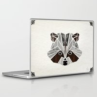 raccoon Laptop & iPad Skins featuring raccoon! by Manoou