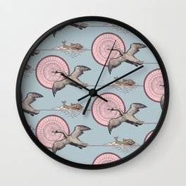 PATTERN - SWANS FLIGHT Wall Clock