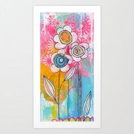 flower garden no.01 Art Print