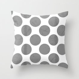 Gray Polka Dot Throw Pillow