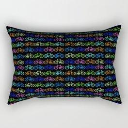 Colorful Bicycles DARK Rectangular Pillow