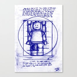 LEGO Vitruvian (Mini)-Figure  Canvas Print