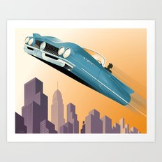 Dude, Where's My Flying Car? Art Print