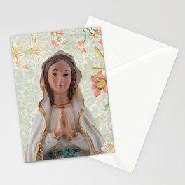 Virgen de Lourdes Stationery Cards