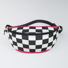 Checkerboard plus pink Fanny Pack