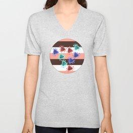 Ameba Blobs - Colorful Putty Unisex V-Neck