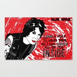 Falling in Reverse-Dug a Hole Canvas Print