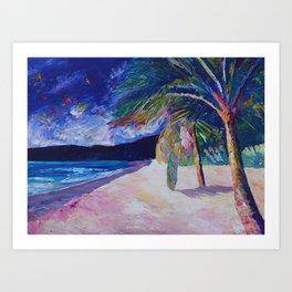 Colorful Caribbean Dream Beach Island Bay Art Print