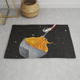 Moon Mac and Cheese Rug