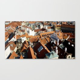 Roofs of Prague Canvas Print
