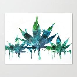 Blue Abstract Mary Jane Canvas Print