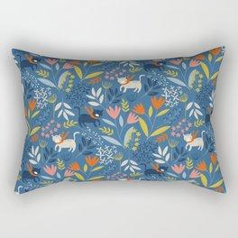 Cats & Flora Rectangular Pillow