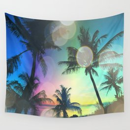 Summer Dreams : Pastel Palm Trees Wall Tapestry