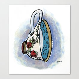 Tittie Tea Cups Canvas Print